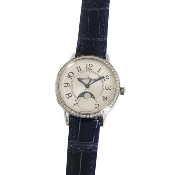 【ヤマト便】【送料無料!】ジャガー・ルクルト Q3578430 レディース腕時計 ランデヴー ムーン ミディアム|JAEGER LECOULTRE 女性 人気 ブランド ダイヤモンド キレイ おしゃれ 革 ブルー シルバー