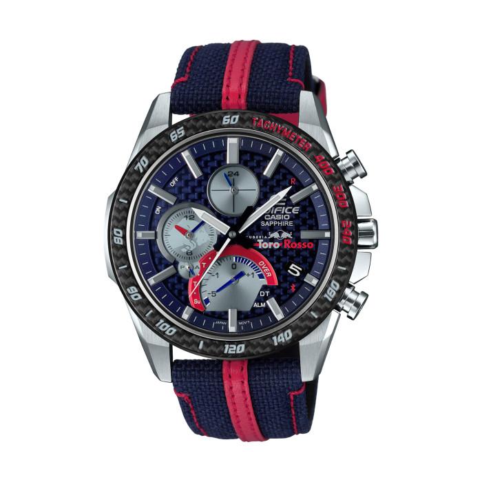 【送料無料!】カシオ EQB-1000TR-2AJR メンズ腕時計 エディフィス|CASIO EDIFICE 男性 限定 プレゼント ギフト スクーデリア トロロッソ リミテッドエディション ブルー レッド シルバー ブラック