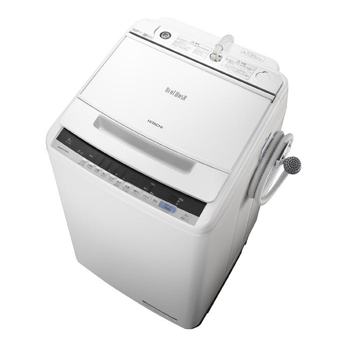 基本設置無料・埼玉・千葉・神奈川・東京都限定配送 日立 8kg 全自動洗濯機 BW-V80C-W ホワイト HITACHI BWV80C ビートウォッシュ|8キロ インバーター 自動槽洗浄