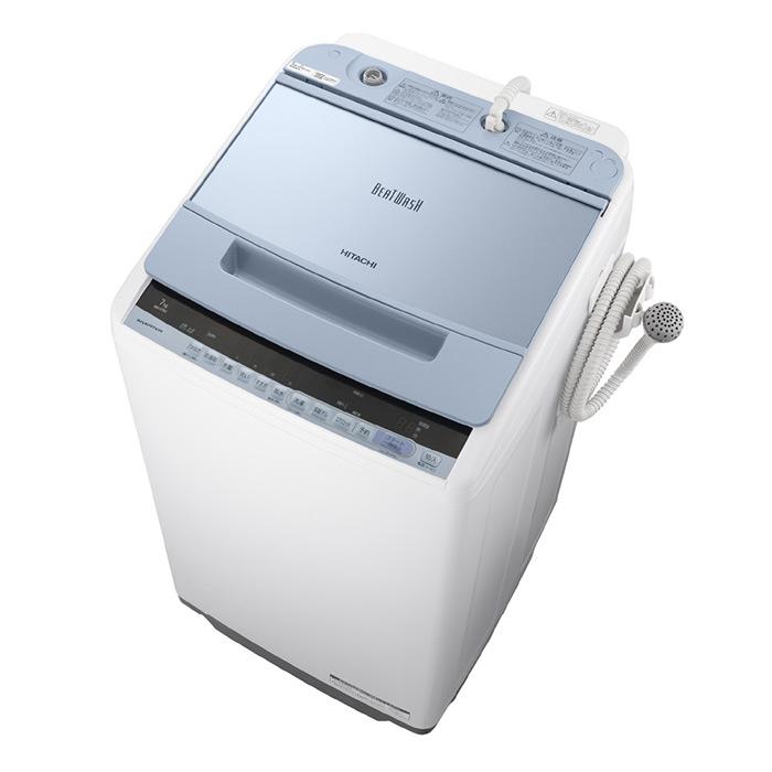 基本設置無料・埼玉・千葉・神奈川・東京都限定配送 日立 7kg 全自動洗濯機 BW-V70C-A ブルー HITACHI BWV70C ビートウォッシュ|7キロ インバーター 自動槽洗浄