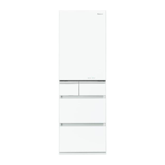 基本設置無料 埼玉・千葉・神奈川・東京都限定配送 パナソニック 450L 右開き 5ドア 冷蔵庫 NR-E454PX-W スノーホワイト Panasonic NRE454PX 大型 大容量 自動製氷 幅60cm 幅60センチ