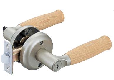 交換用レバーハンドル錠 木製間仕切り錠(簡易鍵付き)【取替】【ドアノブ】