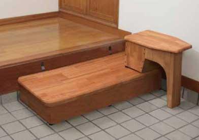 【送料無料】【バリアフリー】【階段段差解消】玄関踏み台 椅子(腰掛)付き 120cm