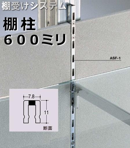 店舗でも使える収納棚システム 可動式の棚受け金具 棚柱 棚受け金具 シングルタイプ クローム 定価 支柱レール 600ミリ 美品