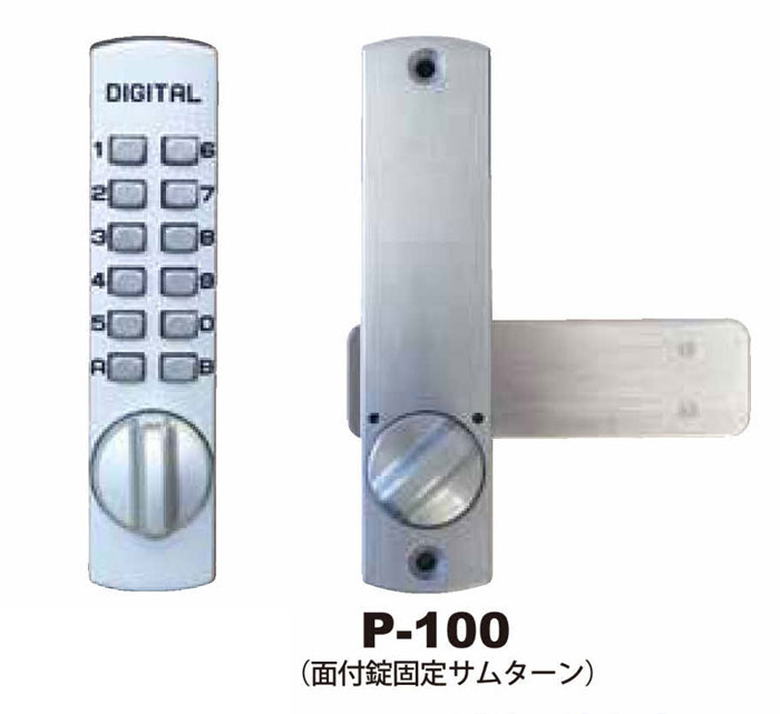 暗証番号式補助錠(鍵) デジタルロックP100【防犯対策】