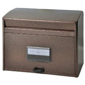 【郵便受け箱】大型ポスト(郵便受け箱)MYL-50エンボス(ブロンズ)【壁付け/スタンドポールタイプ(ポール別売り)】