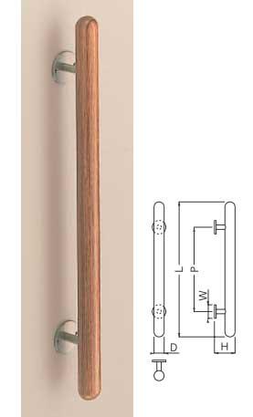 【新築工事】【戸建】【ドアハンドル】積層を使用したドア取っ手(ハンドル) ドアハンドル ウッド カプセル取っ手 木ネジ止メ用 600ミリ【引戸に最適】【抗菌】
