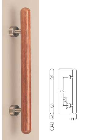 【新築工事】【戸建】【ドアハンドル】積層を使用したドア取っ手(ハンドル) ドアハンドル ウッド カプセル取っ手 両面用 400ミリ【引戸に最適】【抗菌】