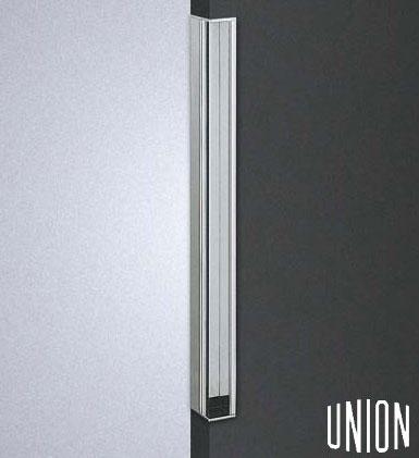 【送料無料】【union】【掘込】【建築用ドアハンドル】ユニオン フラッシュドア専用 引戸用 掘り込みハンドル ブラス クロム  長さ400mm 対応ドア厚40~42mm 【フラッシュドア】