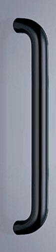 【新築工事】【戸建】【ドアハンドル】真チュウを使用したドア取っ手(ハンドル) ドアハンドル 丸棒取っ手 両面用 黒 大【引戸に最適】