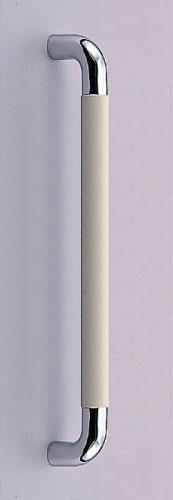 【新築工事】【戸建】【ドアハンドル】真チュウとゴムを使用したドア取っ手(ハンドル) ドアハンドル パッド取っ手 両面用 クローム 450ミリ【引戸に最適】