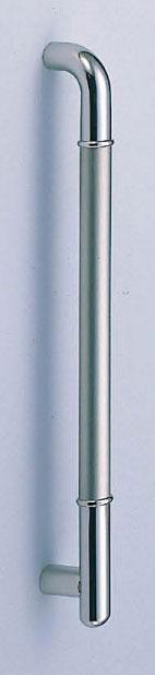 【新築工事】【戸建】【ドアハンドル】ステンレスを使用したドア取っ手(ハンドル) ドアハンドル ステン F形丸棒取っ手 両面用 630ミリ【引戸に最適】