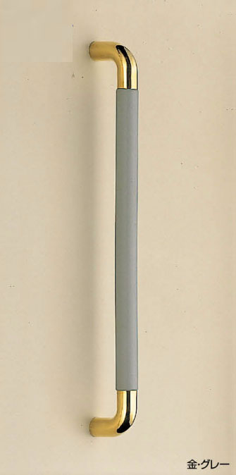 【新築工事】【戸建】【ドアハンドル】真チュウとゴムを使用したドア取っ手(ハンドル) ドアハンドル パッド取っ手 両面用 金 450ミリ【引戸に最適】