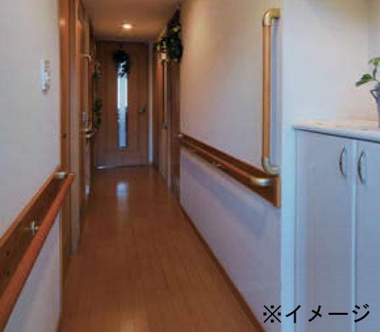 一般的な室内の直線廊下に必要な手すり部材をセットにしお買い得な価格に 住宅用木製廊下手すりセット 年中無休 部材 直線4Mベースプレート無し 完全送料無料