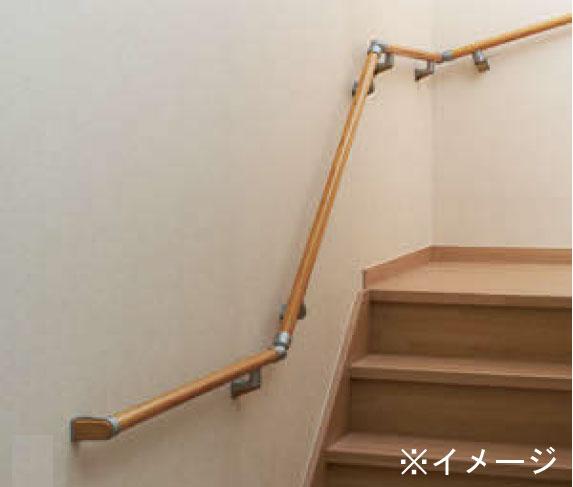 住宅用木製階段手すりセット 90°2段回り階段用【部材】【室内】
