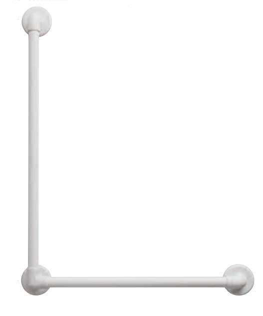 【浴室用手すり】手すり(ソフトアクア浴室用)L型 60×80cm【洗面所手すり】【ユニットバス手すり】