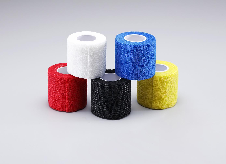 自着テープ単色 子供用プロテクターのズレ防止に TKS 伸縮性自着テープ 期間限定の激安セール 幅5cm 体毛 肌に付かないテープ同士がくっつき合うタイプ包帯代わり 万能テープ 長さ4.5m子供用プロテクターのズレ防止に最適プレーンカラー髪 販売実績No.1