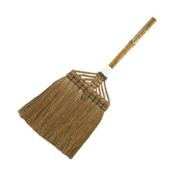 八ツ矢工業 YATSUYA 鬼毛長柄ほうき 上 19065 棕櫚鬼毛繊維 天然素材 棕櫚箒 シュロホウキ