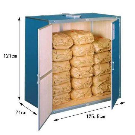9俵用 総桐材米保管庫(米収納庫)K-09型 通気孔付き(30kg袋×18)組立式【smtb-ms】