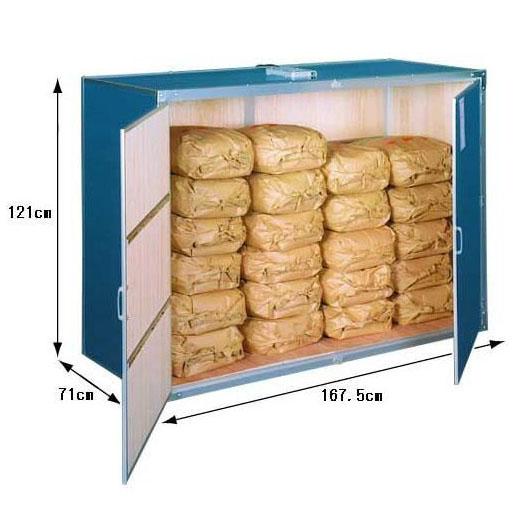 12俵用 総桐材 米保管庫(米収納庫)K-12型 通気孔付(30kg袋×24)組立式 総桐米保管庫 川辺製作所