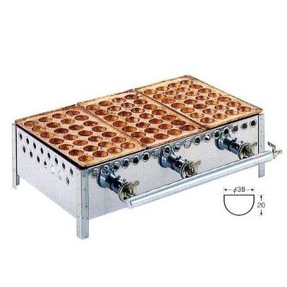銅板 たこ焼機 ころがし式 28穴 3連・2連・4連・5連 連数選択 [たこ焼き器 タコ焼き機] 【smtb-ms】