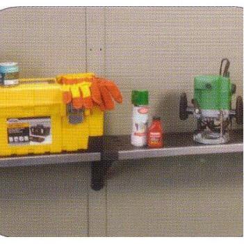 トリパネル シェルフキット 棚板3枚、棚受け6個 Keter ケター 樹脂製 物置用 [外国風 収納棚 物置き 瀧商店]