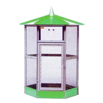 小鳥小屋 鳥かご バードハウス B型 グリーン[屋内 屋外用鳥小屋]