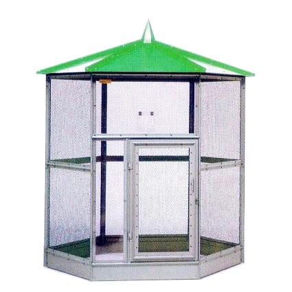 小鳥小屋 鳥かご バードハウス A型 グリーン[屋内 屋外用鳥小屋]
