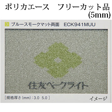 【あすつく】 特注サイズ 住友ベークライト ポリカエース フリーカット品ECK941MUU ブルースモークマット両面(両面耐候)5.0mm厚, ベリーズマリン:0dcbd057 --- futurabrands.com