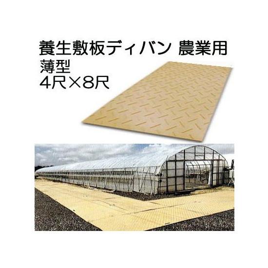 養生敷板 ディバン 薄型 4尺×8尺×13mm(8mm凸部5mm) 農業用 茶色(法人届けor営業所渡し) saka