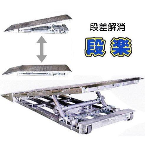 段楽 DR-1025 段差解消スロープ キャスター付き 段差100mm〜250mm 調節(法人届けor営業所渡し)