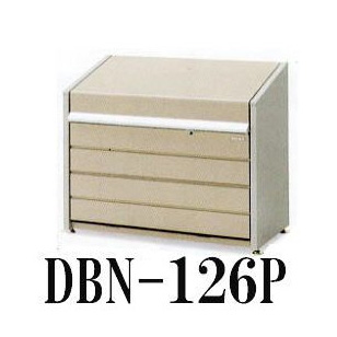 イナバ 集積ゴミ保管庫 ダストボックスミニ DBN-126Pパネル床タイプ 組立式 (ゴミステーション)[大型ゴミ箱 ゴミ集積箱 ゴミ保管庫 ごみ箱 マンション アパート]