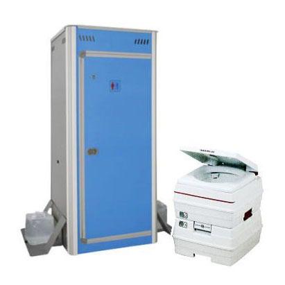 簡易仮設トイレ FOT-003-B キャビンに ポータブル水洗トイレ V24L 付きセット (法人or営業所引取り) アクト石原