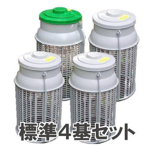 生ゴミ処理容器 土中埋め込み式 ミラコンポ PC-300A(4基セット) 広田産業
