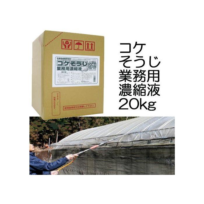 コケそうじ 業務用濃縮液 20kg 20倍希釈タイプ いしくらげ対策に 日本製 こけ駆除 苔除去 パネフリ工業