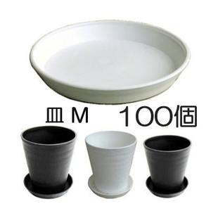 明和 セラアート 皿(受皿、鉢皿)M 外径212×高さ30mm 白黒色選択 100個単位