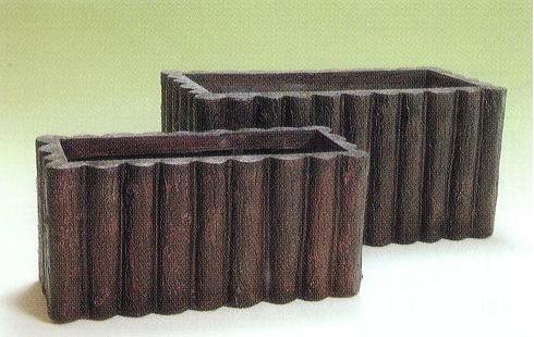 丸太プランター 70型 ファイバーグラス製 大和プラスチック [プランター プラスチック]