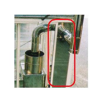 給排気 スライドパネル 1段窓用 / 2段窓用 温室用 石油温風暖房機 窓枠取付 SP-527A・SP-1210A対応