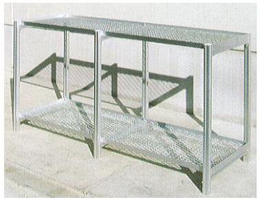 フラワースタンド 温室用2段棚チャッピー用 アルミベンチ 5-2S 大仙