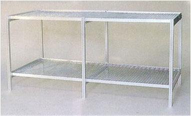 フラワースタンド 温室用2段棚 アルミベンチ MMN8-2 大仙