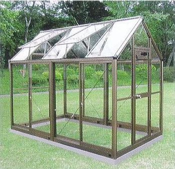 アルミ製 ガラス温室 チャッピー B-15型 1.5坪 [瀧商店 園芸用品] CYP-B15G 1800×2950×2372mm 大仙