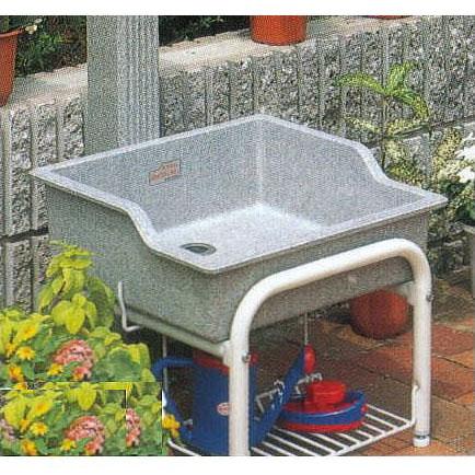 [ガーデンシンク]研ぎ出し流しスタンド付きセット 750型 排水ホース付【smtb-ms】