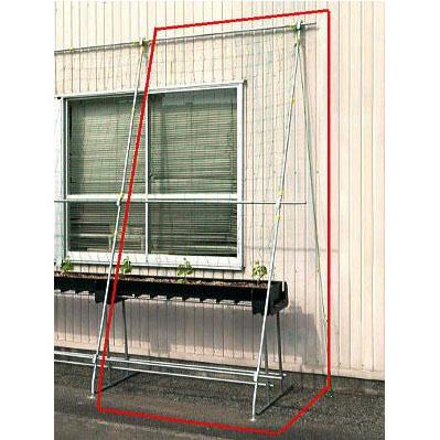 緑のカーテン グリーンらくラック 延長セット 幅1.5m×高さ3m【smtb-ms】