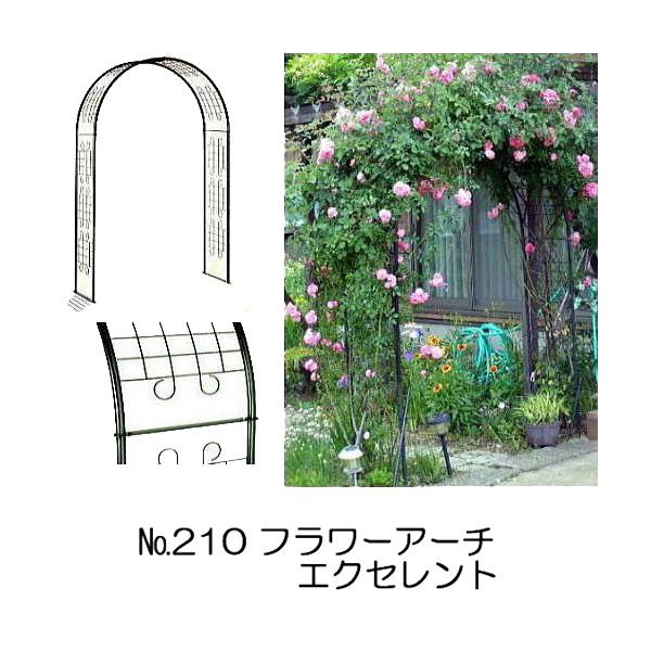 フラワーアーチ エクセレント No.210 W124×D49×H202cm バラアーチ グリーンガーデン
