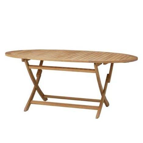 【アウトレット】コスタ オーバルダイニングテーブル HU-2301T 34121400チーク材・組立式