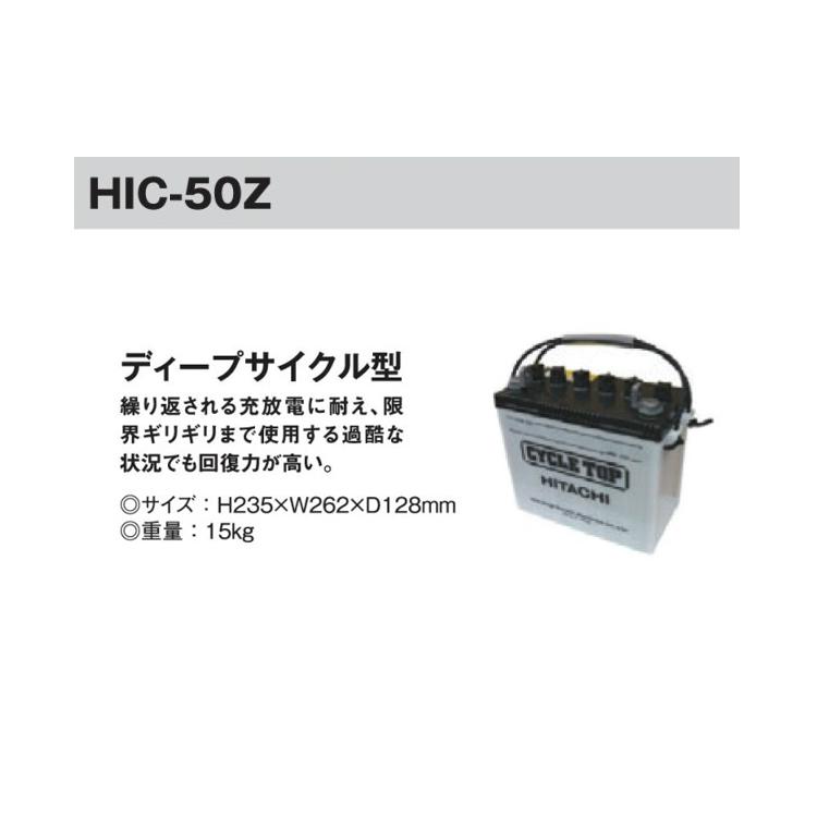 電牧器 ソーラービビット BB1000S用 12Vバッテリー HIC-50Z [KD-BAT-HIC50Z] 未来のアグリ [電気柵 防獣対策 小規模、家庭菜園用 瀧商店]