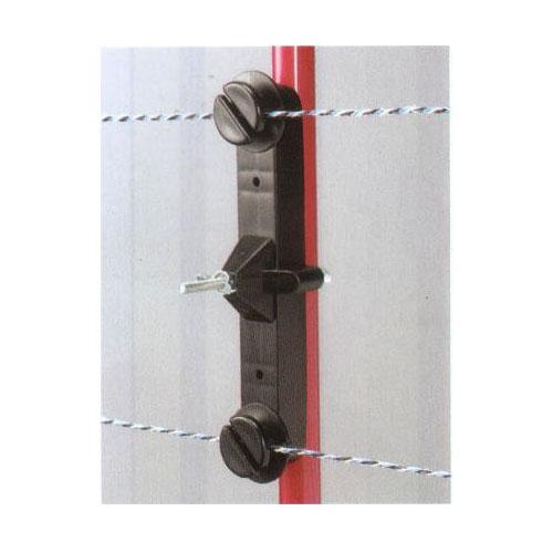 末松電子製作所 電気牧柵用 樹脂被膜鋼管支柱用(ゲッターパイル用)Wガイシ(14~20mmの支柱用) 50個 【307】