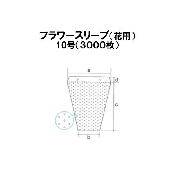 シンワ 多孔 フラワースリーブ 10号(3000枚入)【smtb-ms】[農機具 農具 瀧商店]