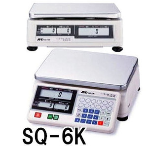店舗用料金はかり デジタル上皿はかり SQ-6K 秤量6kg 検定付 エーアンドデイ【smtb-ms】