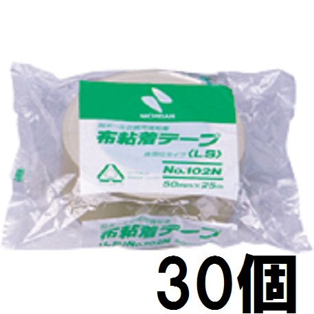 ニチバン 布粘着テープ LS No.102N 50mm×25m巻 黄土 30個単位 NICHIBAN